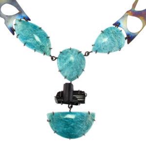 dubhe - amazonite and black tourmaline necklace pic1