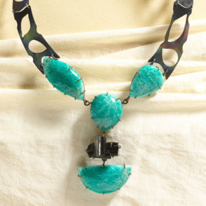dubhe - amazonite and black tourmaline necklace pic3