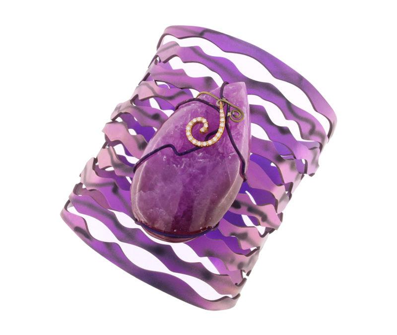 cobaltian calcite brecelet