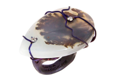 dubhe - drop musk agate ring pic1