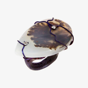 dubhe - drop musk agate ring pic2