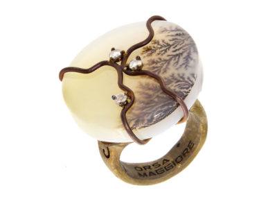 dubhe - round musk agate ring pic1