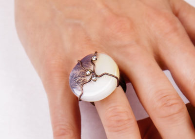 dubhe - drop musk agate ring pic4