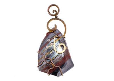 tiger iron pendant