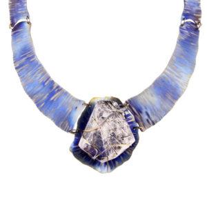 dubhe - tourmalinated quartz necklace pic2