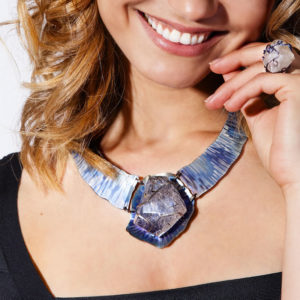 dubhe - tourmalinated quartz necklace pic3