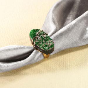 dubhe - uvarovite garnet ring pic4