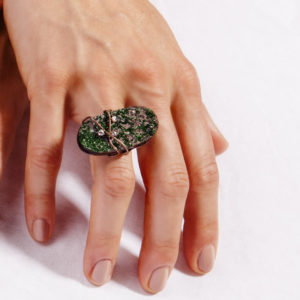 dubhe - uvarovite garnet ring pic5