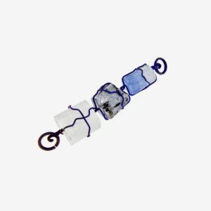 merak - aquamarine pendant with finish titanium pic2