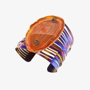 merak - banded agate bracelet pic2