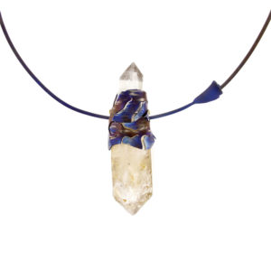 merak - biterminated hyaline quartz necklace pic1