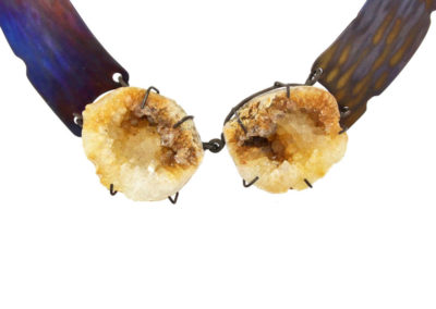 citrine geode necklace