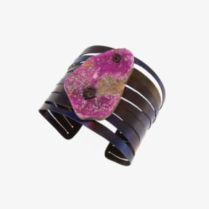 merak - cobaltian calcite bracelet golden blue finish pic2
