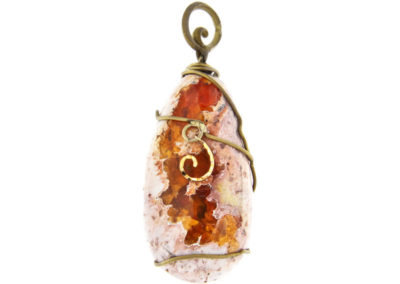 merak - fire opal pendant pic1