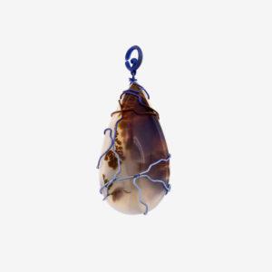 merak - musk agate pendant golden blue finish pic2