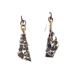 merak - pallasite earrings pic1