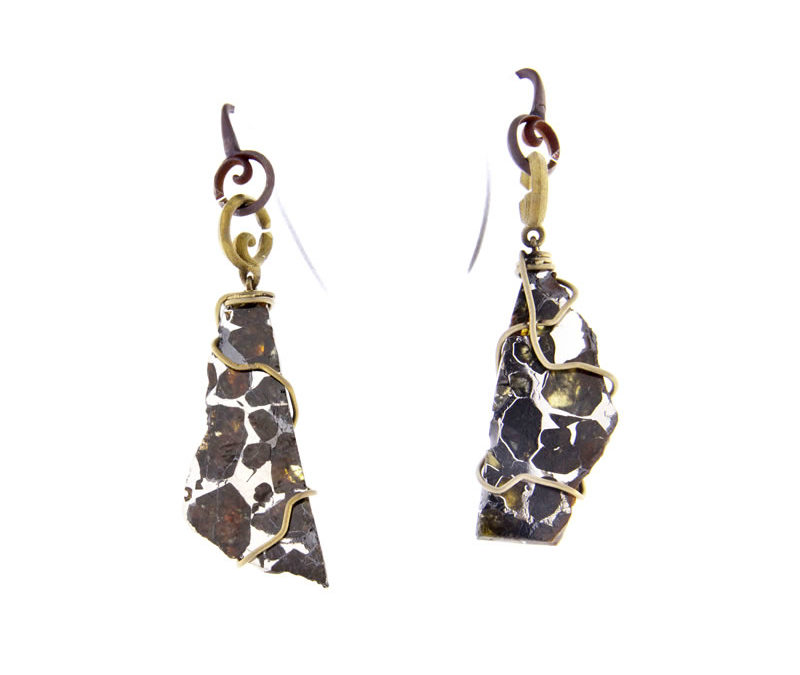 pallasite earrings