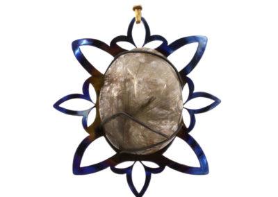 merak - rutilated quartz pendant pic1