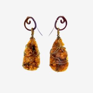 merak - spessartite earrings pic2