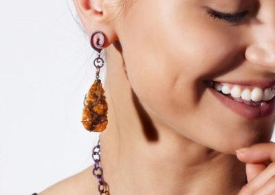 merak - spessartite earrings pic3