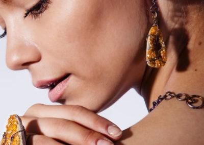 merak - spessartite earrings pic4