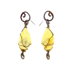 merak - yellow opal earrings pic1