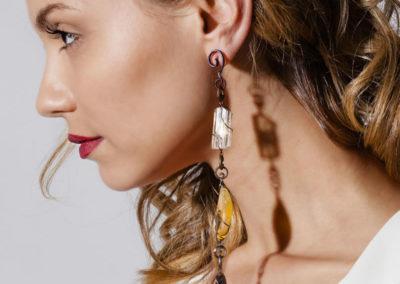 merak - yellow opal earrings pic3