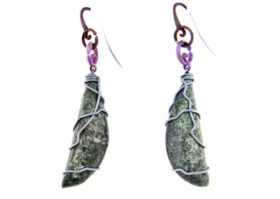 fuchsite earrings