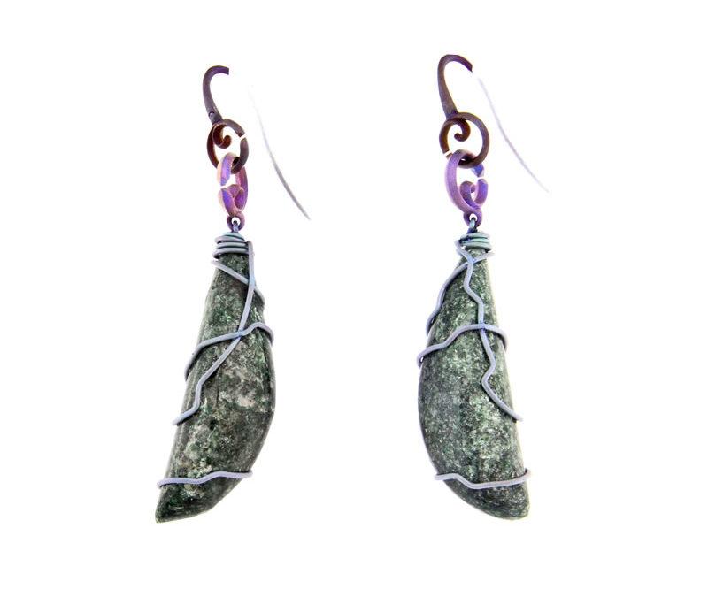 fuchsite earrings