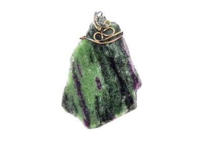 ruby-zoisite pendant