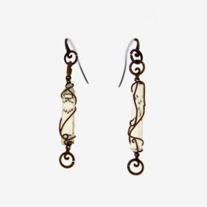 mizar - scapolite earrings pic2