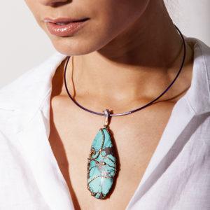 dubhe - turquoise pendant
