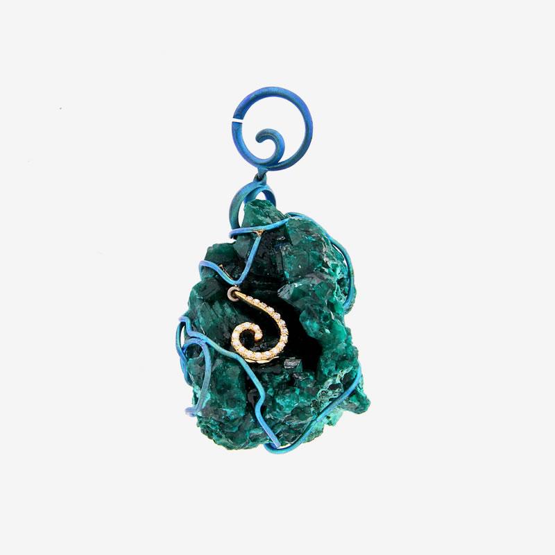 Dioptase pendant green finish orsa maggiore jewels dioptase pendant green finish aloadofball Choice Image