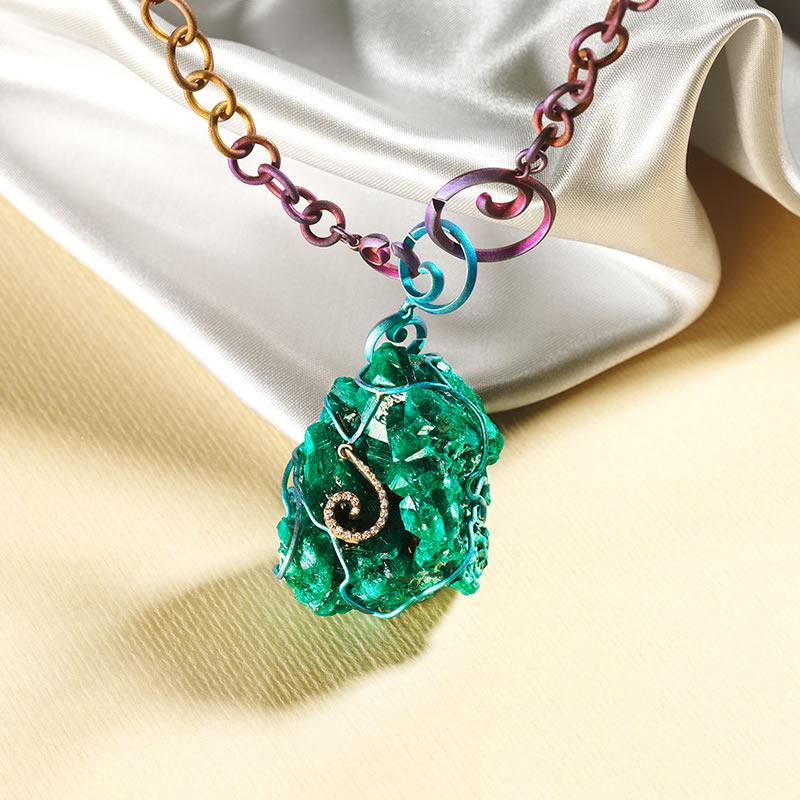 Dubhe dioptase pendant green finish pic3 orsa maggiore jewels dubhe dioptase pendant green finish pic3 aloadofball Gallery