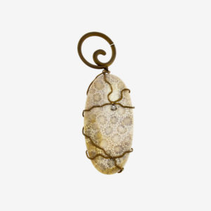 dubhe - fossil white coral pendant pic2