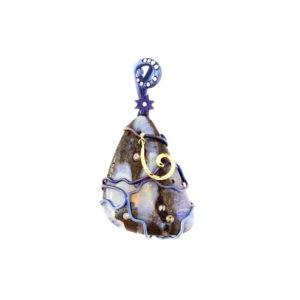 dubhe - matrix opal pendant pic1