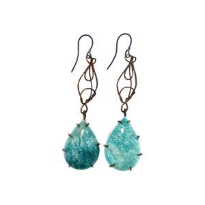 merak - amazonite earrings pic1