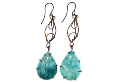 merak - amazonite earrings pic1