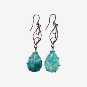merak - amazonite earrings pic2