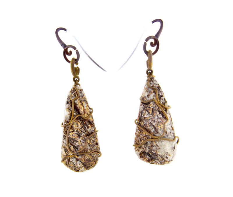 astrophylite earrings