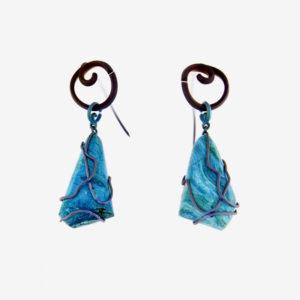 merak - chrisocolla earrings pic2