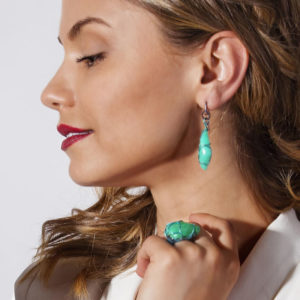 merak - chrysoprase earrings pic3