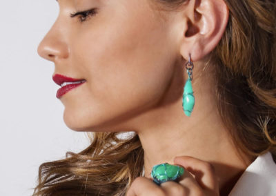 merak - chrysoprase earrings pic3