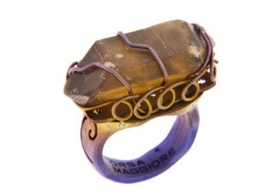 citrine quartz ring
