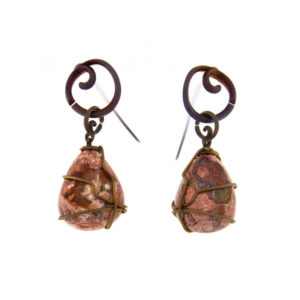 merak - fire opal earrings pic1