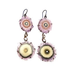 mizar - amethyst earrings pic1