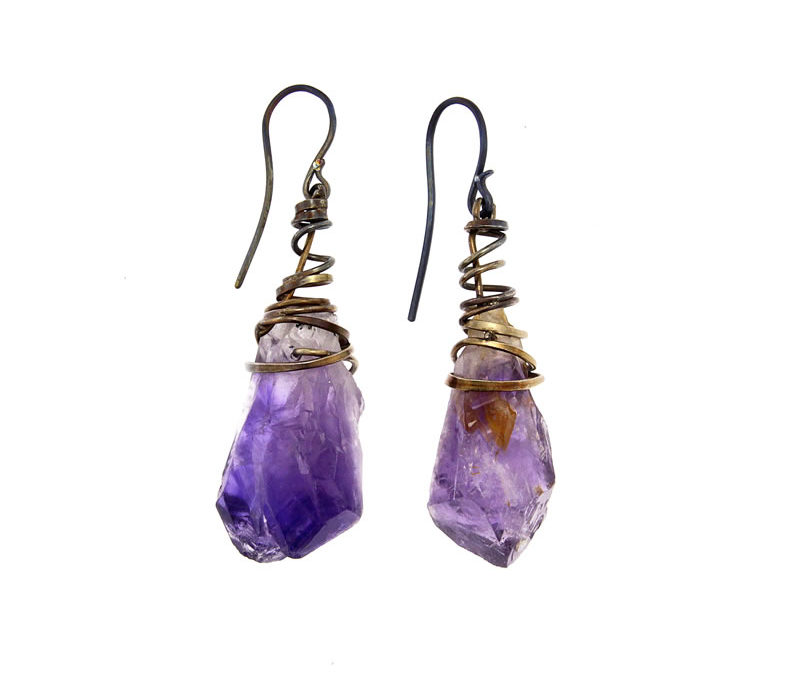 amethysts earrings