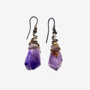 mizar - amethysts earrings pic2