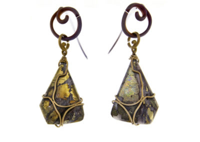 chalcopyrite earrings