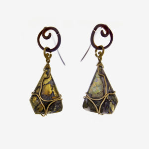 mizar - chalcopyrite earrings pic2